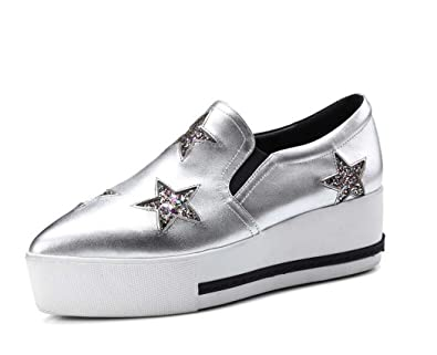 2ffde1ea90e MYI MYI MYI Casual Chaussures Simples Plate Forme étudiant Blanc Chaussures  fea631