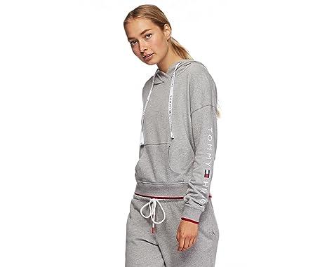 a8b288c3e65a Tommy Hilfiger Women s Logo Drawstring Hoodie at Amazon Women s ...