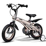 Bicicletas Eléctricas niños bebé de 3 años Carro de bebé de 4 a 8 años Infantil de 14 Pulgadas (Color : Champagne Gold, Size : 98 * 38 * 76cm)
