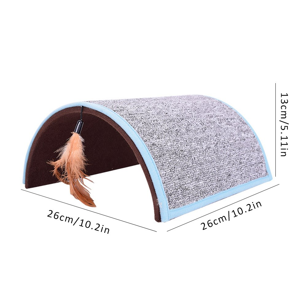 Midsummer Carpet Arch Cat Scratch Board Pet Tunnel House Tent Cat Litter Beds Multifunctional Dog House and Pet Toys,Collapsible,Often used in homes, outdoors, courtyards, parks and during journey by Midsummer (Image #2)
