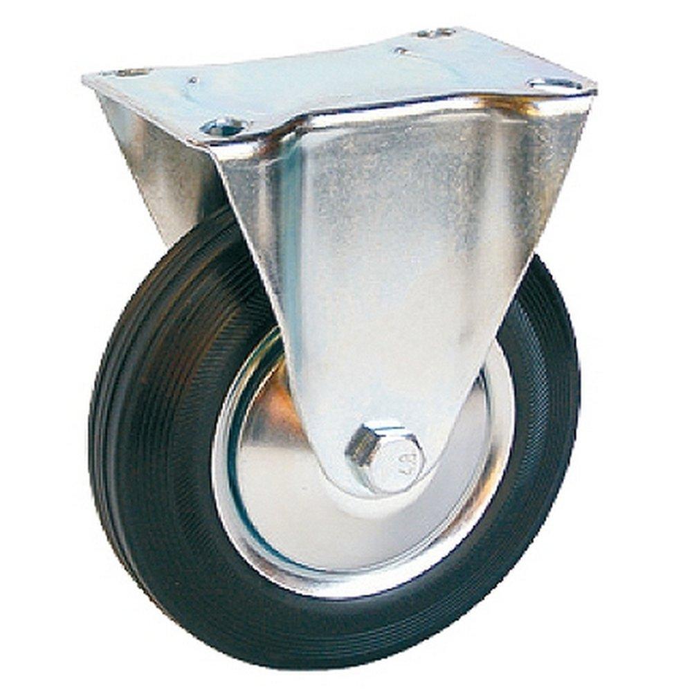 Bockrollen - Ruedas con freno (4 unidades, 3 ruedas fijas, 2 ruedas giratorias con freno, para el transporte de muebles, 125 mm, hasta 100 kg): Amazon.es: ...