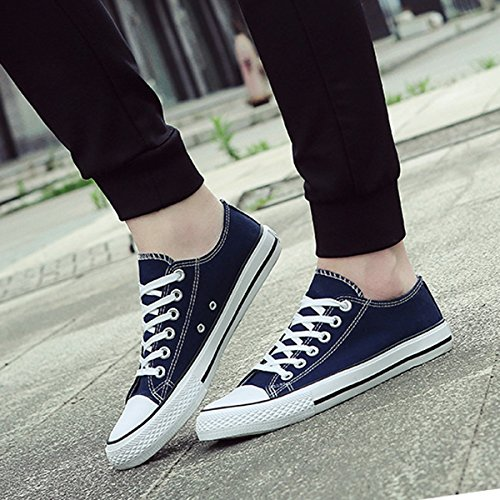 Flat Casual Solid Canvas YunPeng Shoes Blue Canvas Up Low Lace Shoes Walking Womens Sneakers Top Colors 7UWUFTPq