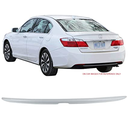 White Honda Accord >> Pre Painted Trunk Spoiler Fits 2013 2016 Honda Accord Oe Style Painted Nh788p White Orchid Pearl Abs Trunk Boot Lip Spoiler Wing Deck Lid Other
