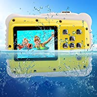 Waterproof Camera Kids,LELEKEY 12MP HD Mini Underwater Action Camera Camcorder 2 inch LCD 9.9 Ft Waterproof Starter Camera Including Float Strap 16GB Memory Card from LELEKEY