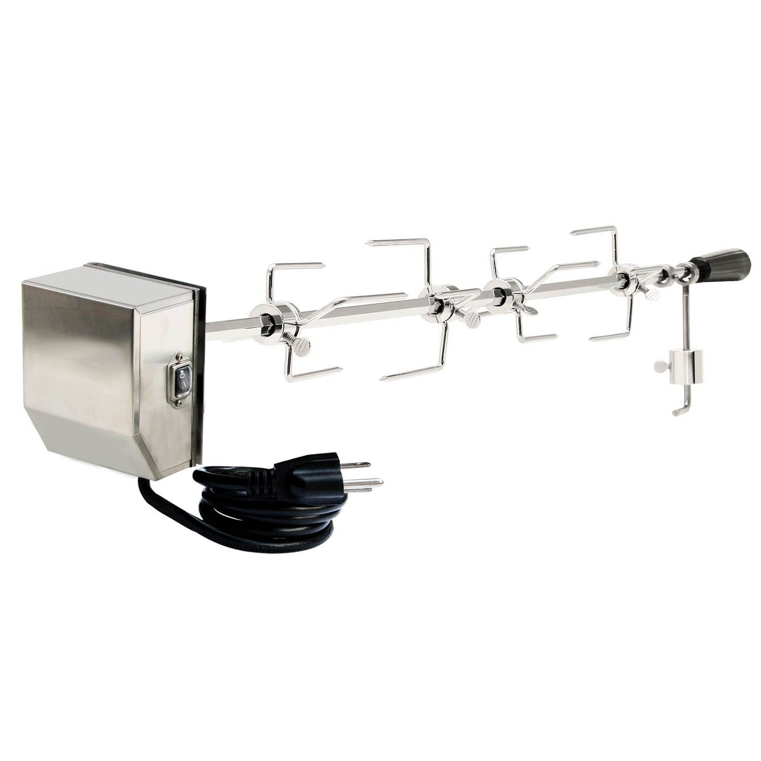 Onlyfire Universal Grill Replacement Rotisserie Kit - 45'' & 53'' X 1/2'' Hexagon Spit Rod, Stainless Steel Electric Motor