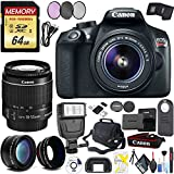 Canon EOS Rebel T6 DSLR Camera 18-55mm Lens, Wide Angle & Telephoto Modifiers, Case, Filters More!