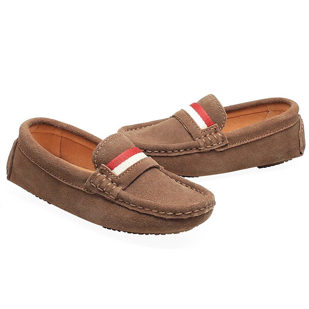 Shenn Chicos Niños Ponerse Vestido De Escuela Linda Ante Cuero Pisos Mocasines Zapatos: Amazon.es: Zapatos y complementos