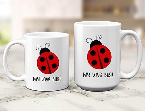 Amazon.com: Taza de regalo con texto en inglés «My Love Bug ...