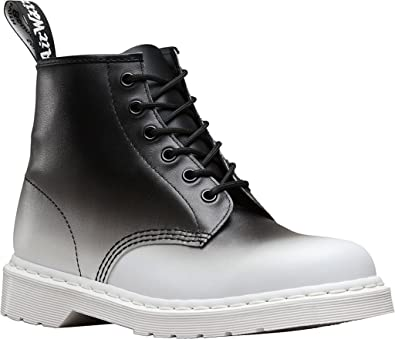 Dr. Martens Men's 101 6-Eye Fashion Boots, White, Leather, 10