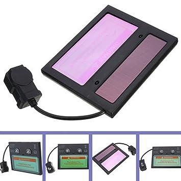 Solar Auto oscurecimiento casco de soldadura lente filtro pantalla, autooscurecimiento horizontal filtro, máscara lente de automatización ...