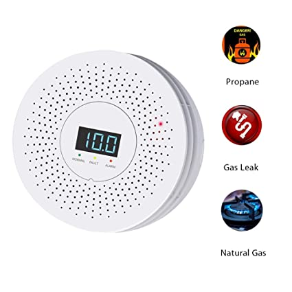 OUCAXIA Natural Gas Leak Detector for Home and Kitchen, Methane Detector Sensor Gas with Audible and Visual Alarm and LED Display, Sensitivity for ...