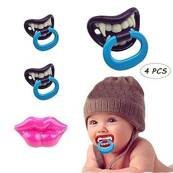 Baby Boy Girl Funny Novelty Dummy Baby Pacifier Vampire Tooth Nipple New Trendy