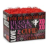 Large Hugs And Kisses Chalkboard Basket Boxes - 10 1/4 x 6 x 7 1/2in. - 84 Pack