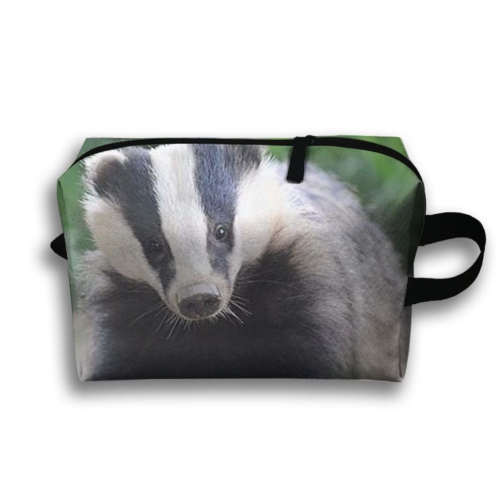 Badger Animal Natural Scenery Travel / Home Use Storage Bag, Carts Storage Space, Space Saver Carrying Bags, Organizers Sacks Set