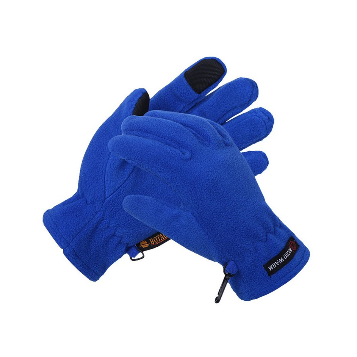 Mens Fleece Style Touch Screen Gloves Dark Blue)