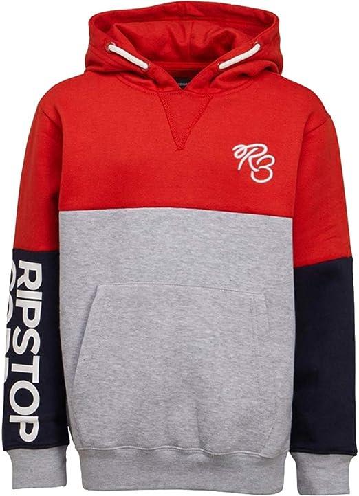 Boys Ripstop Printed Logo Brushback Fleece Overhead Hoody Sizes Age 5-14 Yrs