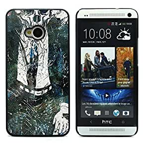 Graphic4You Dead Man Walking Zombie Design Hard Case Cover for HTC One (M7)
