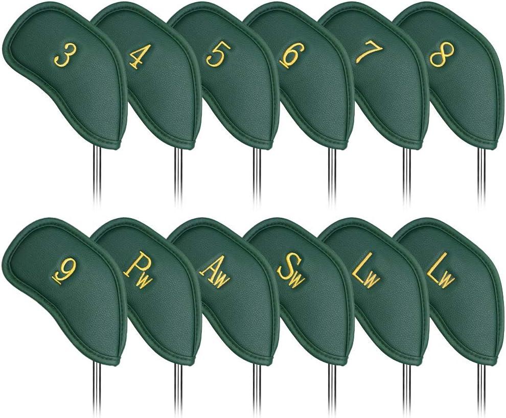 CRAFTSMAN GOLF 12 unids grueso cuero sintético Golf cabeza cubierta conjunto headcover fit todas las marcas alao disponible para la versión personalizada