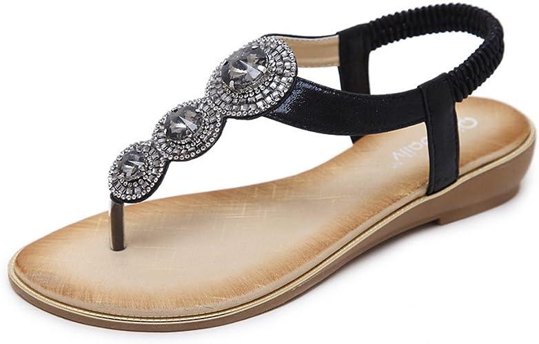 Mobnau Womens Leather Fashion Wedge Sandals Sandles