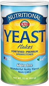 KAL Nutritional Yeast Flakes | Vitamin B12, Vegan, Non-GMO, Gluten Free | Unsweetened, Great Flavor, No Bitter Aftertaste | Great For Cooking | 22 oz