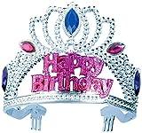 Forum Novelties Happy Birthday Silver pink Crown Tiara - Best Reviews Guide