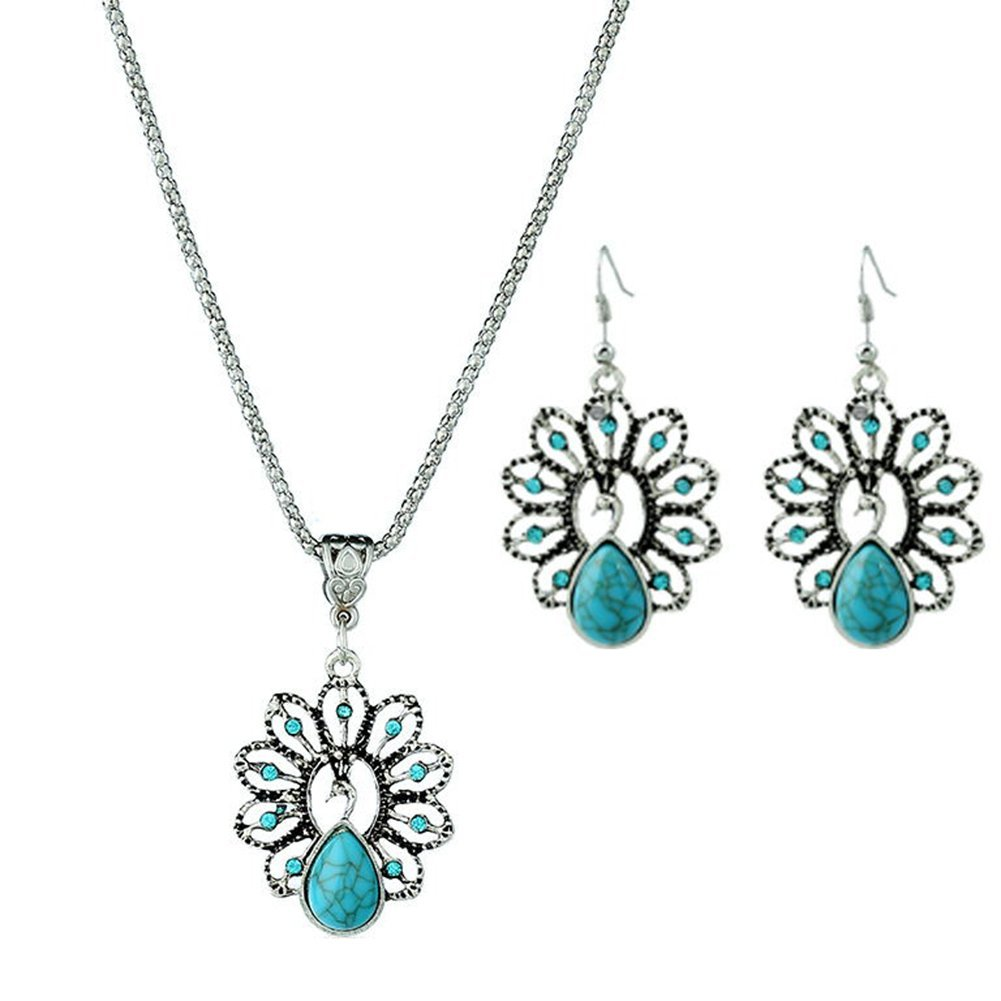 LAAT Necklace +Earrings Women's Crystal Necklace Jewellery Pendant for Girls Decoration