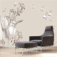 Fotobehang bloemenvlinder 150x105 cm vlies muur behang woonkamer slaapkamer kantoor hal decoratie muurschilderingen XXL…