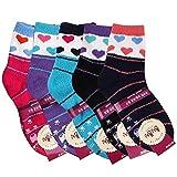 Women's Heart Non-slip Soft Warm Fuzzy Socks 5Pairs