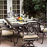 Cheap Darlee Elisabeth 9 Piece Cast Aluminum Patio Dining Set With Granite Top Table – Ruby Granite Tile