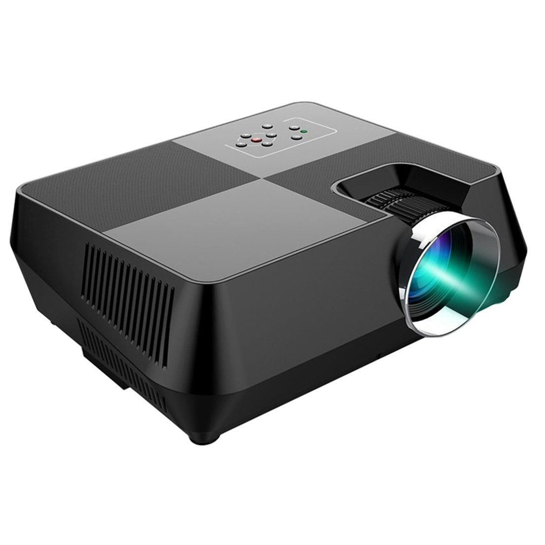OAKLETREA 2000 Lumen Video Projector Directly Mirroring Smartphone Content via USB Cable(iPhone and Android Phone Compatible),Portable LED Mini Projector Supports 1080P HDMI USB VGA AV for Movie,Games