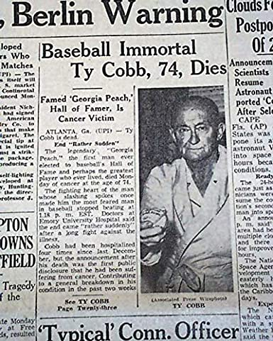 Amazon com: TY COBB Detroit Tigers