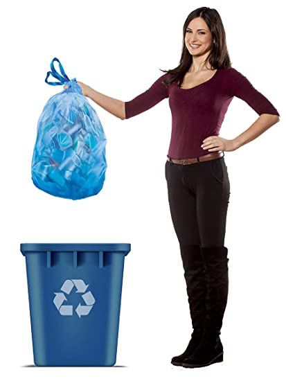 Amazon.com: Hefty - Bolsas de basura de reciclaje (azul ...