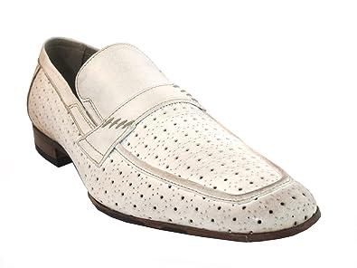 Amazoncom Mens Italian Designer Leather Slip On Shoes Sc1030 By