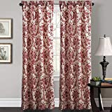 Cheap (Set of 2 panels) 25 Sizes Available 2(100″W x 63″L) Double Pleated Top Contemporary Print Artistic Peony Blossoms Blackout Lining Window Treatment Draperies & Curtains Panels