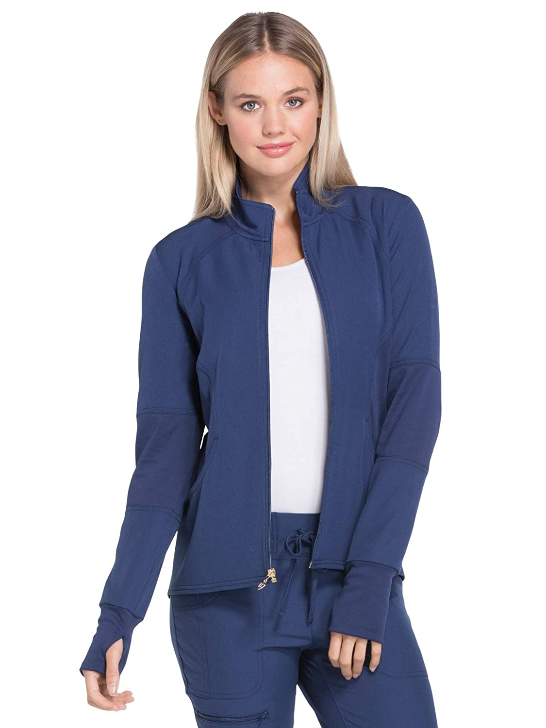 6393c985cbc Heart Soul HS315 Women's Zip Front Warm-Up Solid Scrub Jacket: Amazon.ca:  Clothing & Accessories