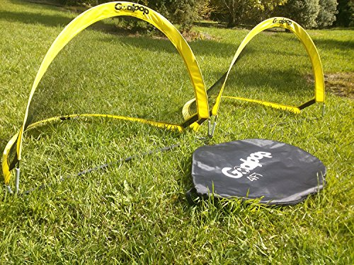GOALPOP 4FT Set of Two Pop Up Goals for Soccer Training - Portable Soccer Goals Net & Carry Bag. Fold-able, Perfect for Kids, and Easy to Carry. Great Gift, Ideal for Backyard, Beach Playing or Training. Weighing Just a Couple of Pounds. (Soccer Foldable Goals)