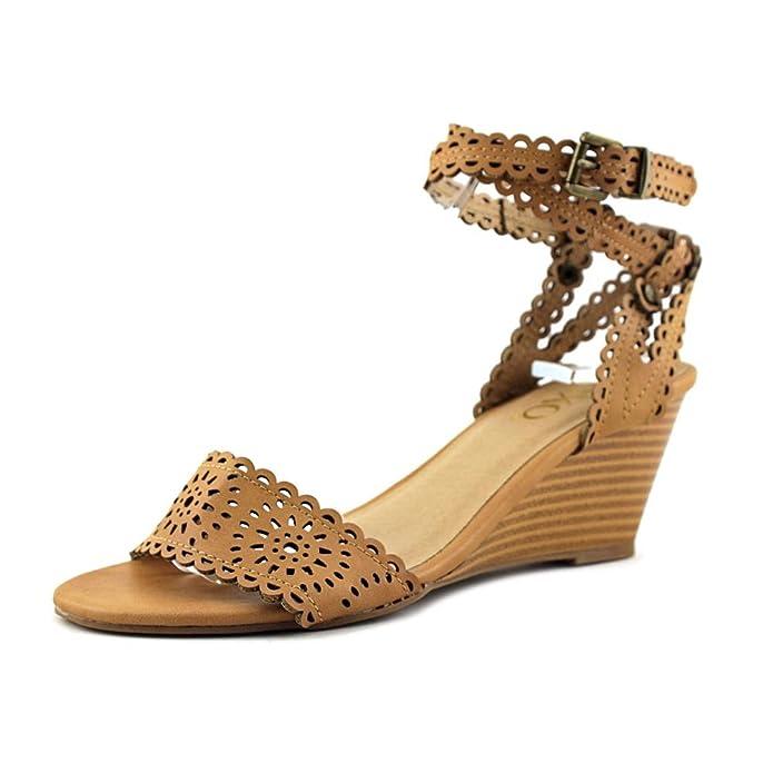 XOXO Frauen Sissy Offener Zeh Leger Sandalen mit Keilabsatz