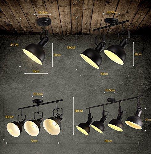 GBT Kreative Persönlichkeit Persönlichkeit Persönlichkeit Industrielle Decke Decke Eisen RetroClothing Shop Shop Restaurant Bar Bar),1 Licht (schwarz) B076KP1VFH | eine breite Palette von Produkten  9130ef