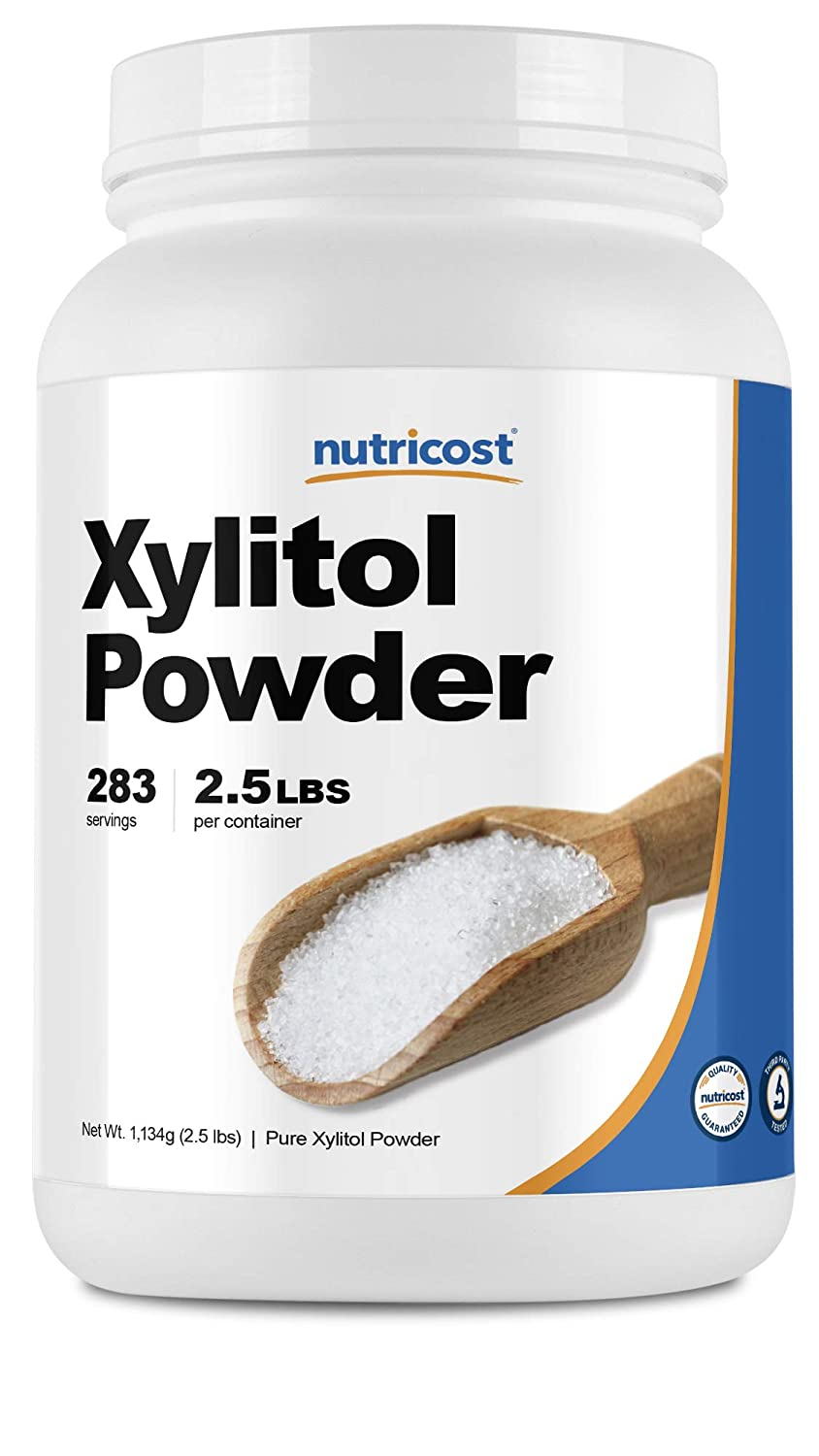 Nutricost Pure Xylitol Granulated Powder 2.5 Pounds - High Quality, Granulated Crystals