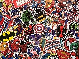 Pegatinas de superhéroes, Marvel, DC Comics, X-men, Batman