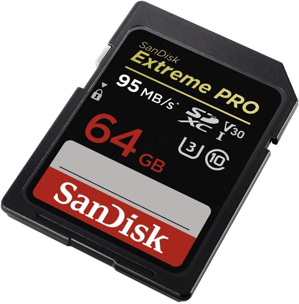 C/ámara Evil con Montura Tipo E y Sensor de fotograma Completo hasta 95 MB//s Color Negro Class 10 y U3 y V30 Sony Alpha ILCE-7M2K Tarjeta de Memoria SDXC de 64 GB SanDisk Extreme Pro