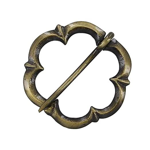 Courtly Love Brass Medieval Furspan Brooch