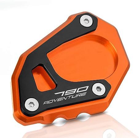 790 Adventure Motorrad Cnc Aluminium Seitenständer Vergrößern Seitenständer Platte Für K T M 790 Adventure 2019 790 Adventure R 2019 790 Adventure S 2019 Orange Schwarz Auto