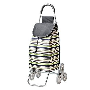 Carritos de la compra ChenDZ Subir escaleras Plegable Carro de Carga portátil Carro pequeño Carro de Mano Remolque de Equipaje de Mano (Color : C): ...