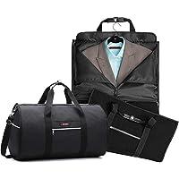 RUIMA - Bolsa de viaje con bolsillo para hombre, diseño plegable para viajes de negocios u otras ocasiones formales Bolsa de ropa colgante y bolsa de transporte para prendas de vestir dos en uno