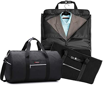 Travel Garment Bag With Pocket Folding Garment Bag   Carryon Garment Bag  Two-In- 7243d17fba