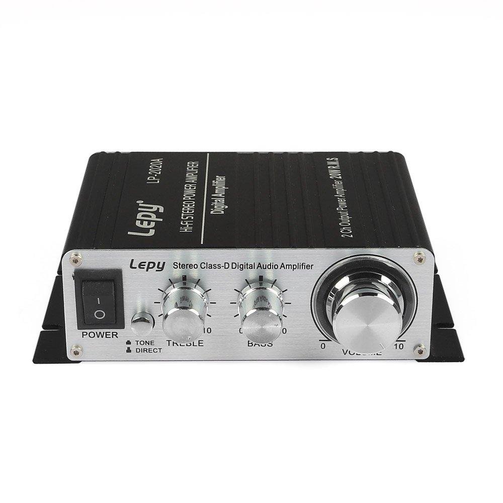 Lepy LP-2020A Class-D Hi-Fi Digital Amplifier with Power Supply Black by Lepy