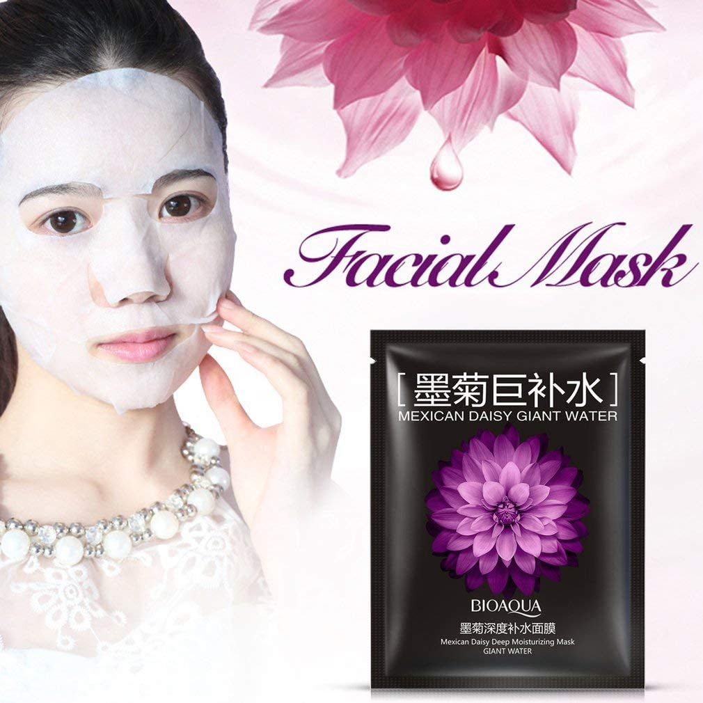 Face Mask Mexican Daisy Moisturizing Oil Control Acne Treatment Facial Mask Black
