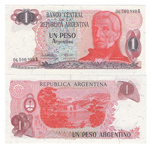 Note Peso One - Banknotes of the world Bank of Argentina 1 Peso Argentino Banknote Crisp UNC / 1983 / Genuine paper money