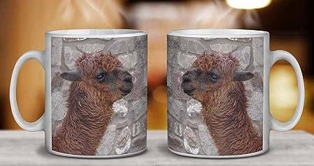 Sudamericana Llama Cumpleaños taza de café regalo navidad: Amazon.es: Hogar